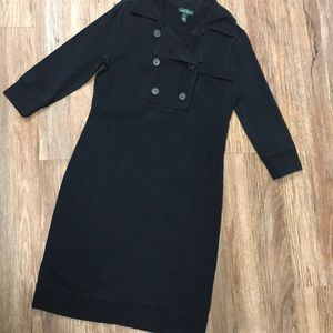 RALPH LAUREN Casual Dress 3/4 Sleeves Cotton Knit